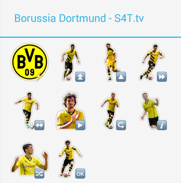 Borussia Dortmund Stickers