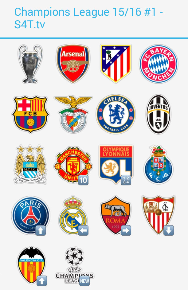 Champions League 15/16 Pack1 Stickers