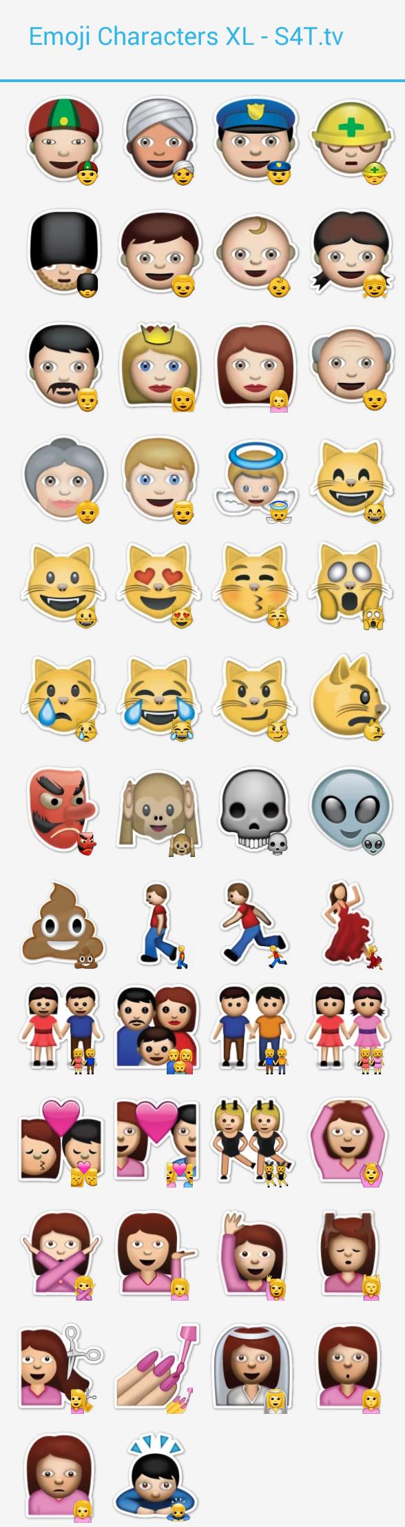 Characters Emoji XL