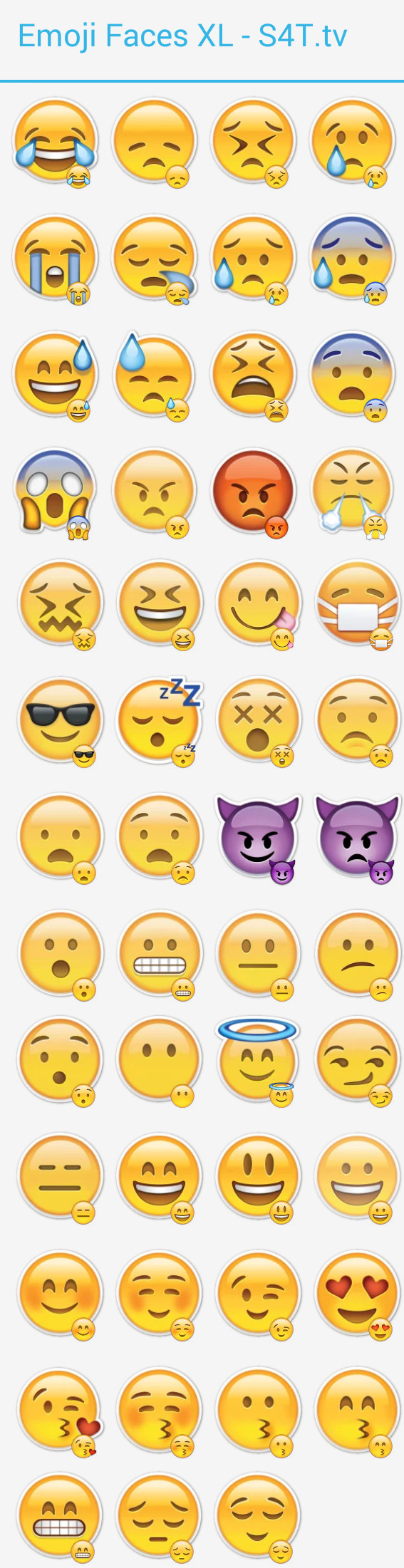 Faces Emoji XL