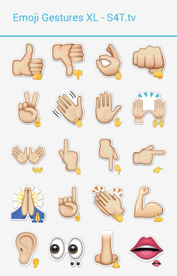 Emoji Gestures XL Stickers