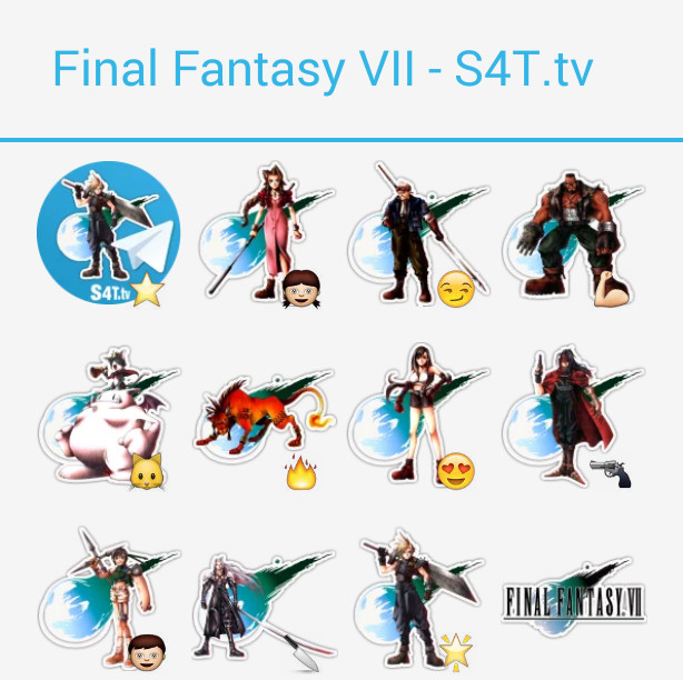 Final Fantasy VII Stickers