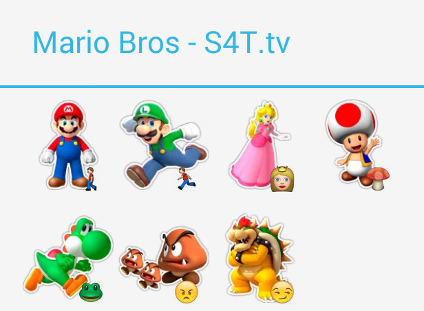 Mario Bros Stickers