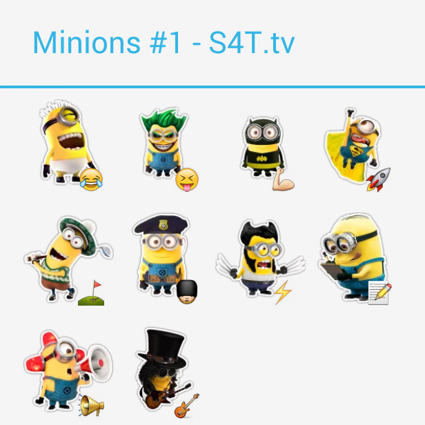 The Minions 1 Stickers