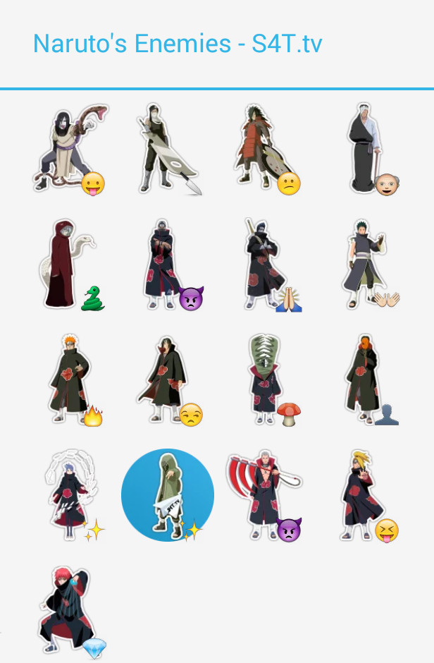 Naruto Enemies Stickers