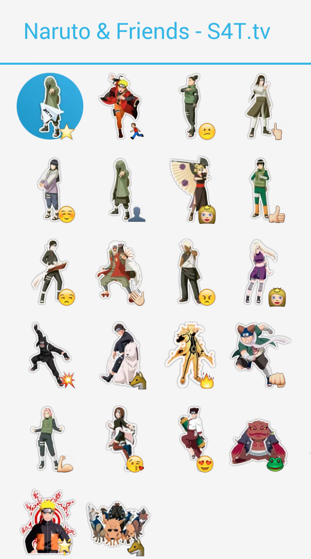Naruto Friends Stickers
