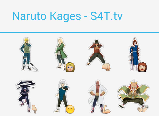 Naruto Kages Stickers