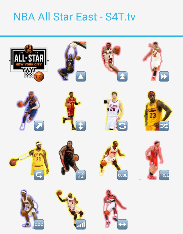 All Star East Stickers