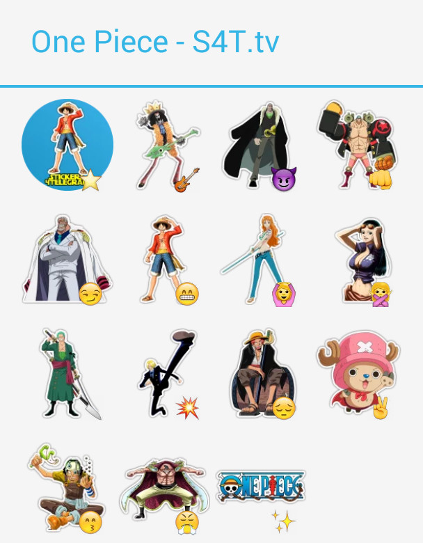 One piece stickers 4 telegram - Stickers muraux one piece ...