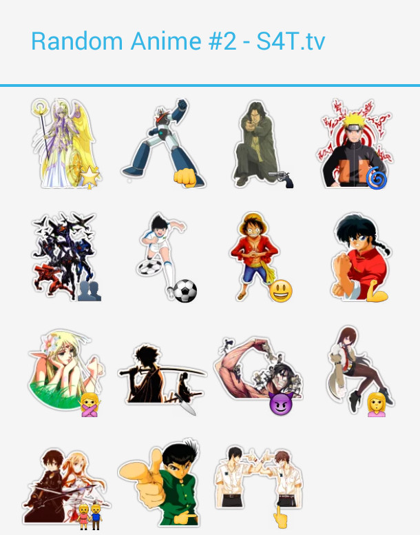 Random Anime 2 Stickers