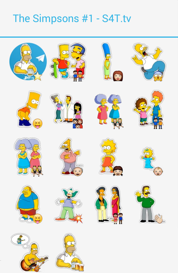 The Simpsons Pack 1 Stickers