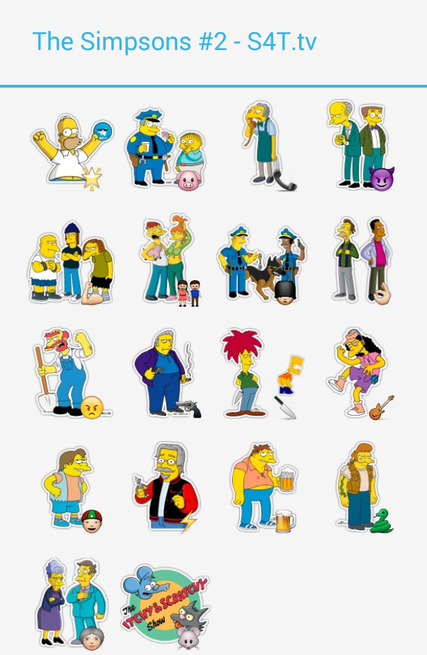 The Simpsons Pack 2 Stickers